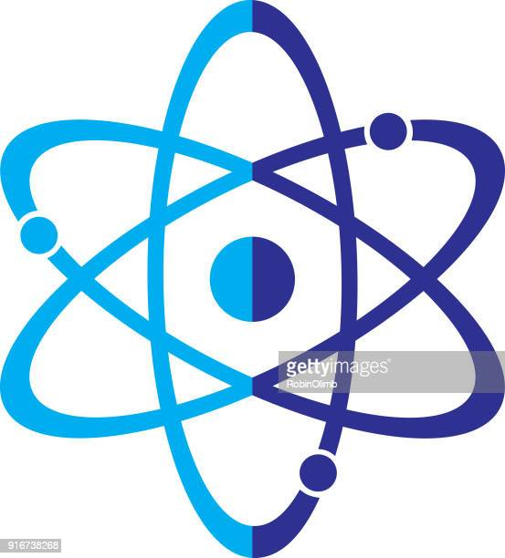 two color atom - nucleus stock illustrations, clip art, cartoons, & icons