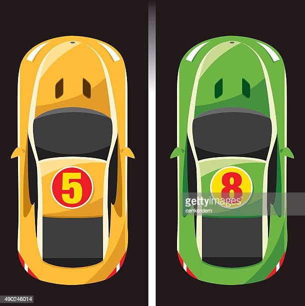 two color race car - race car stock illustrations, clip art, cartoons, & icons
