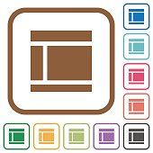 Two columned web layout simple icons