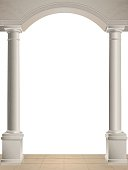Two columns on white background