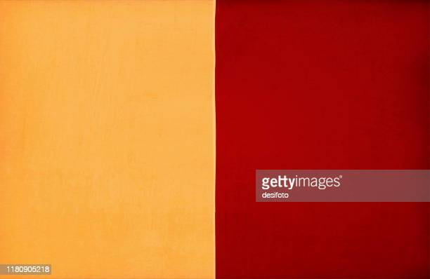 two contrast colours bright mustard yellow and dark red maroon color  wide vertical stripes, grunge background, stripes covering 50 50 of the area. - velvet stock illustrations