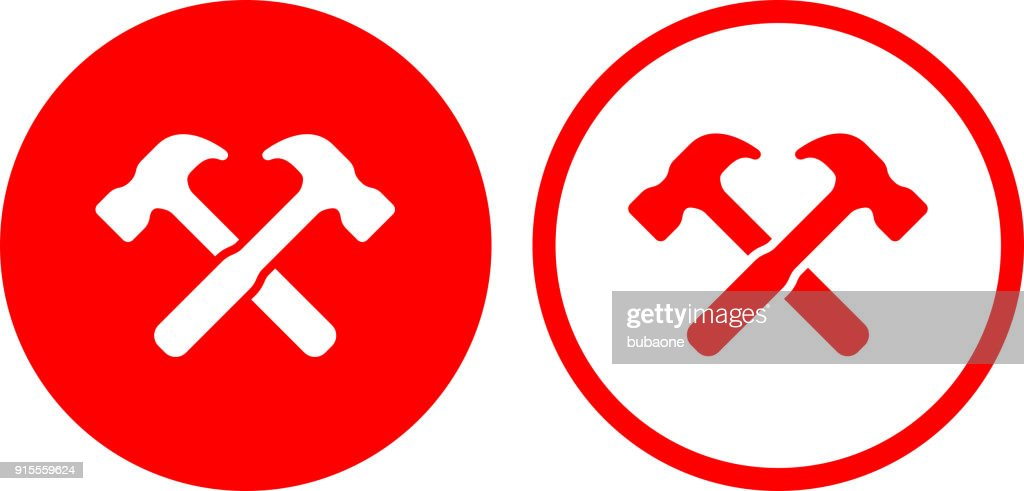 Two Crossed Hammers Vector Art Getty Images