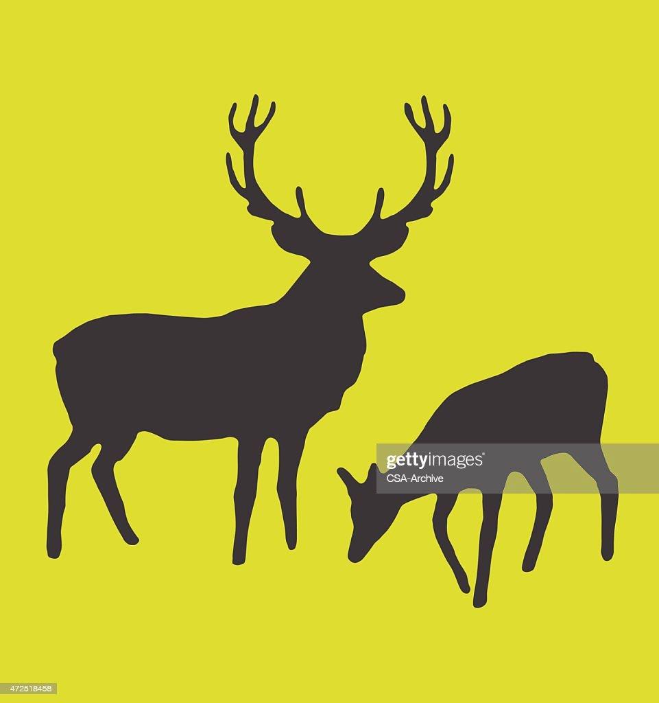 two deer vector art getty images rh gettyimages com Wreath Vector Deer Head Vector