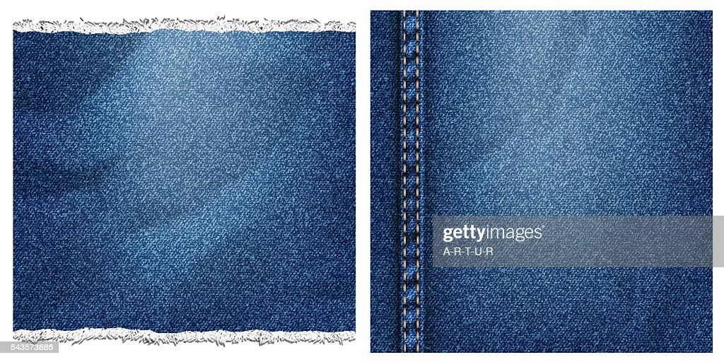 Two denim backgrounds