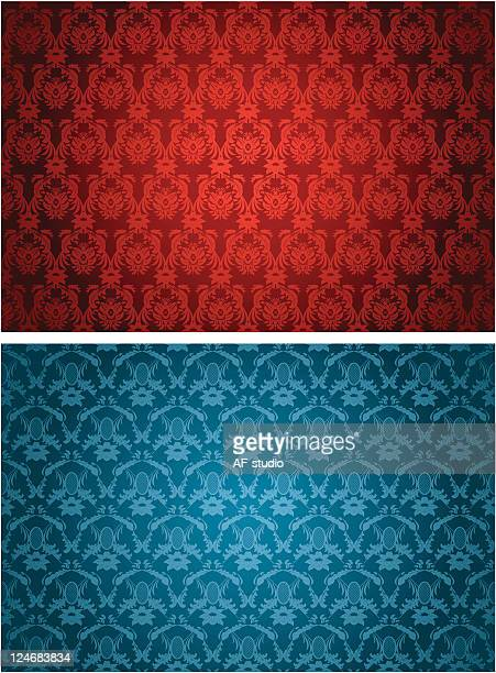 Two different retro seamless backgrounds