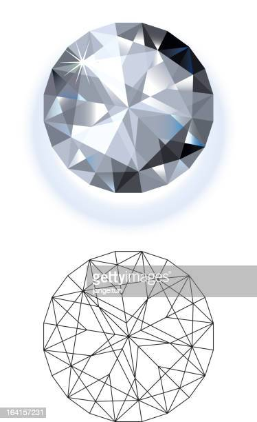two different vector designs of diamonds - diamond shapes stock illustrations, clip art, cartoons, & icons