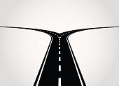 Two directions road