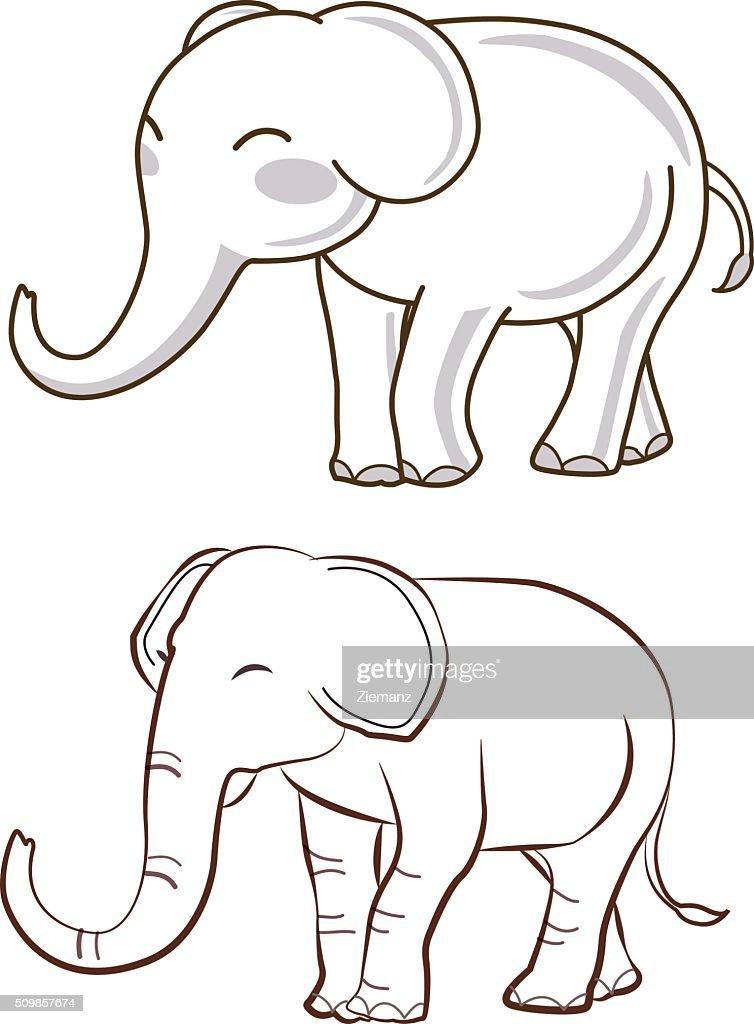 two elephant cartoon