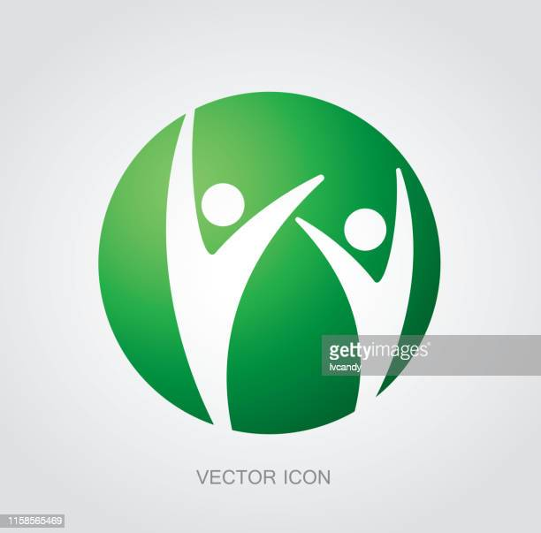 two exciting people symbol - freedom stock illustrations