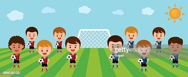 Zwei Fußball-teams