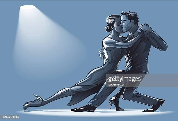 illustrations, cliparts, dessins animés et icônes de deux pour danser le tango - danse de salon