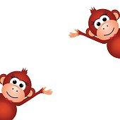 Two funny monkey.