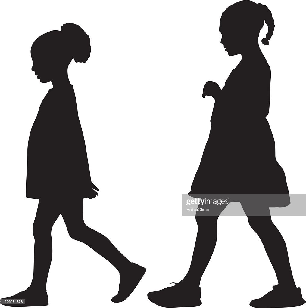 Two Little Boys Walking Together High-Res Vector Graphic - Getty Images