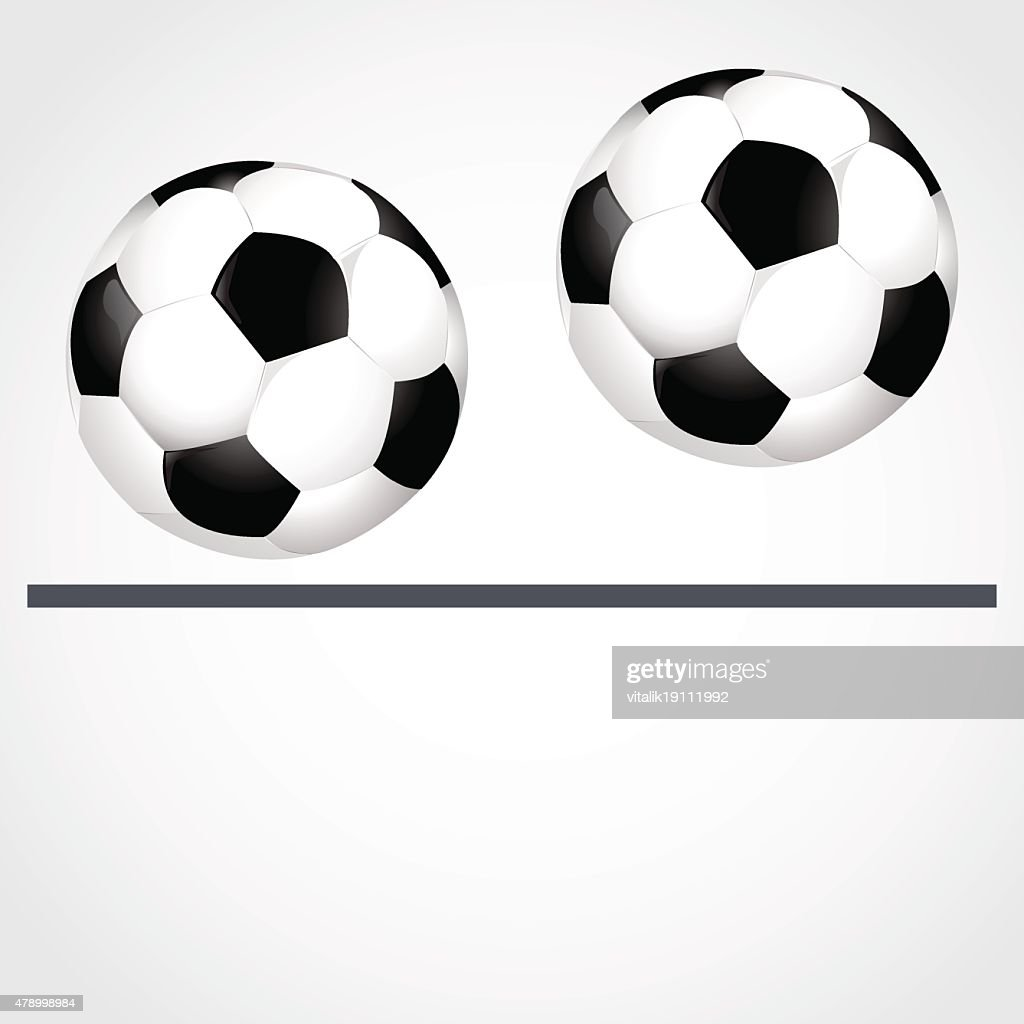 Two goals in the gray background vector illustration