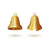 Two golden bells
