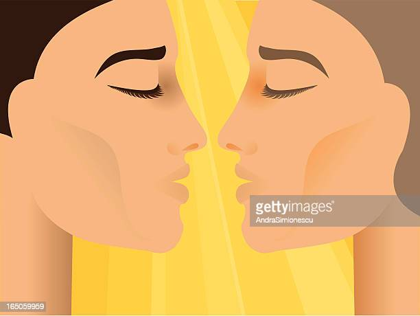sbout 男にキス 2 つ - ゲイ点のイラスト素材/クリップアート素材/マンガ素材/アイコン素材