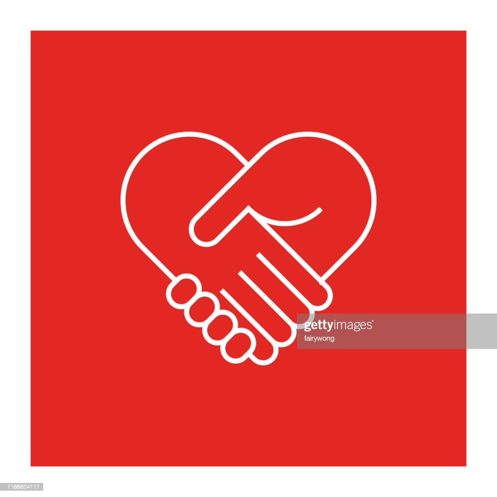 Zwei Hände in Form des Herzens : Stock-Illustration