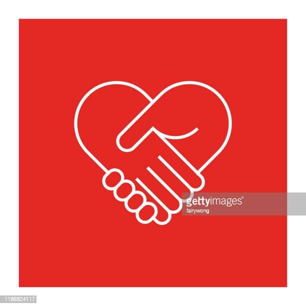 two hands in shape of heart - giving tuesday stock illustrations
