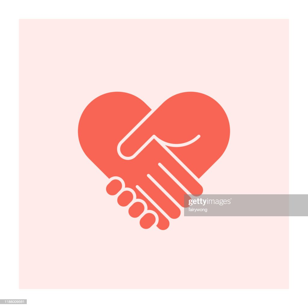 Two hands in shape of heart : Stock Illustration