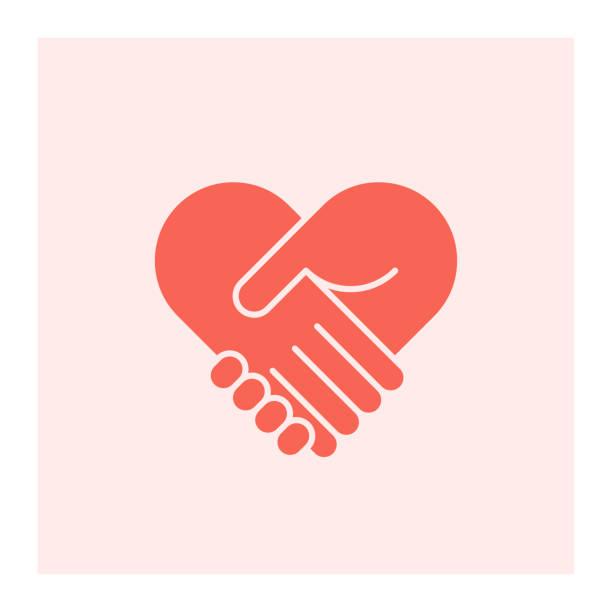 two hands in shape of heart - heart shape stock illustrations
