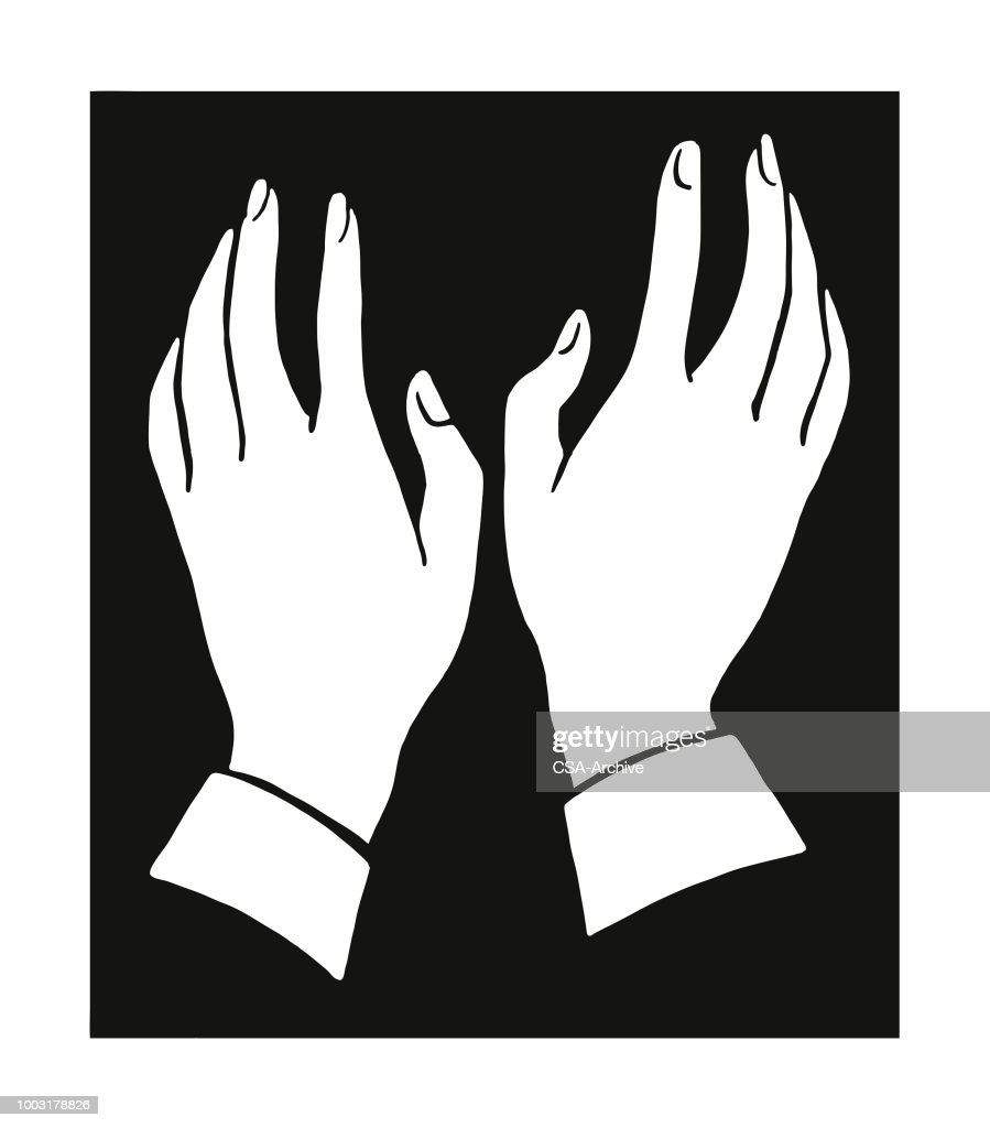 Two Hands Vector Art Getty Images