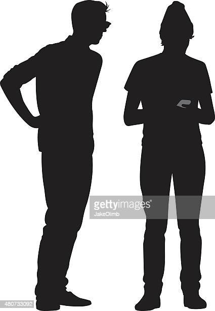 Two Hipsters Silhouettes