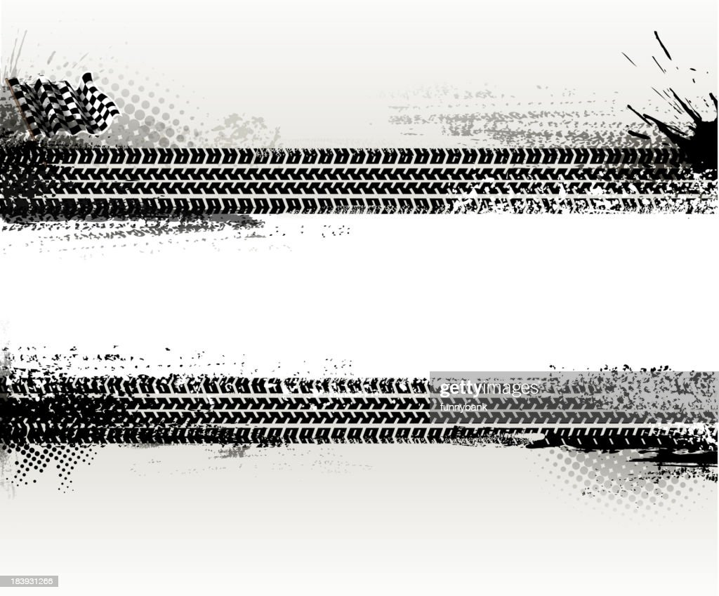 Two horizontal tire texture banners