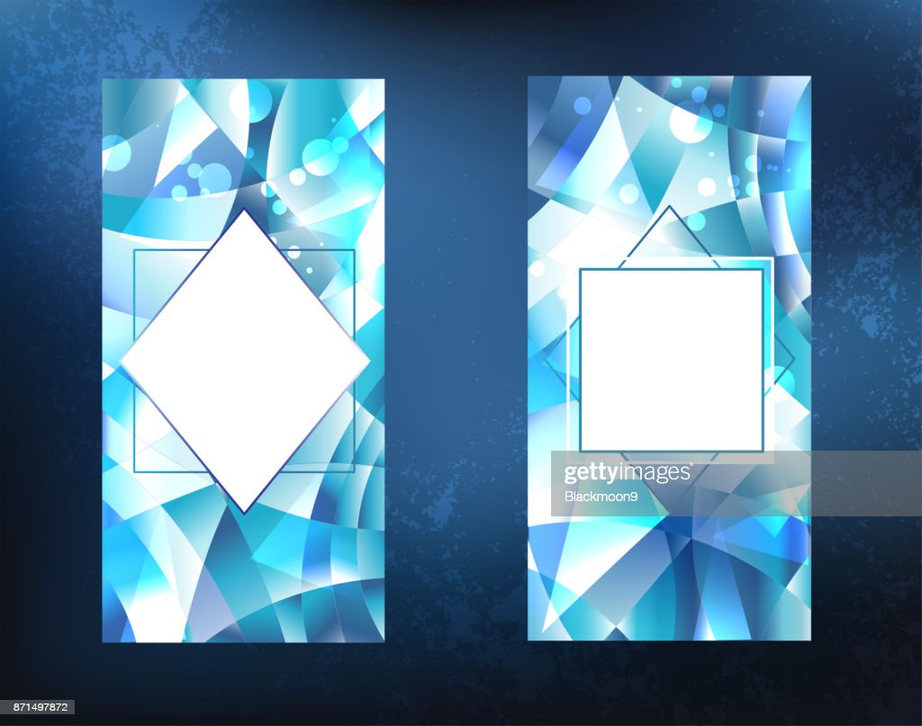 two ice banners