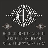 Two letters monogram template.