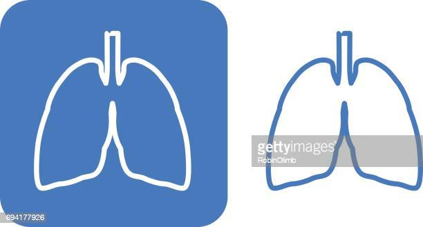 two lungs icons - human lung stock illustrations, clip art, cartoons, & icons