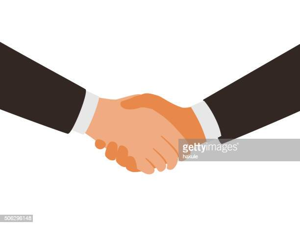two man shaking hands - shaking stock illustrations