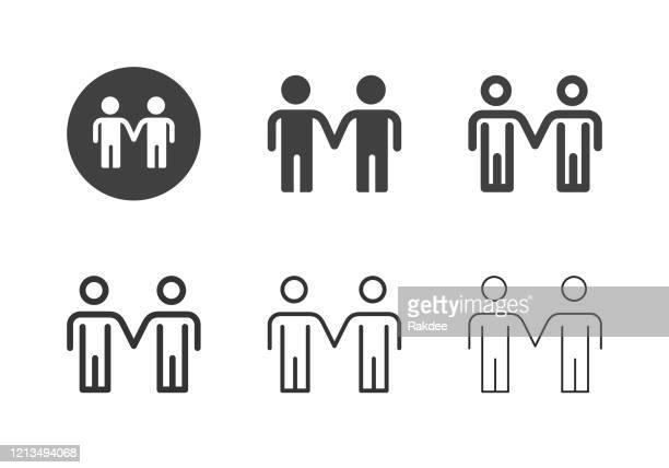 二人の男の立っているアイコン - マルチシリーズ - ゲイ点のイラスト素材/クリップアート素材/マンガ素材/アイコン素材
