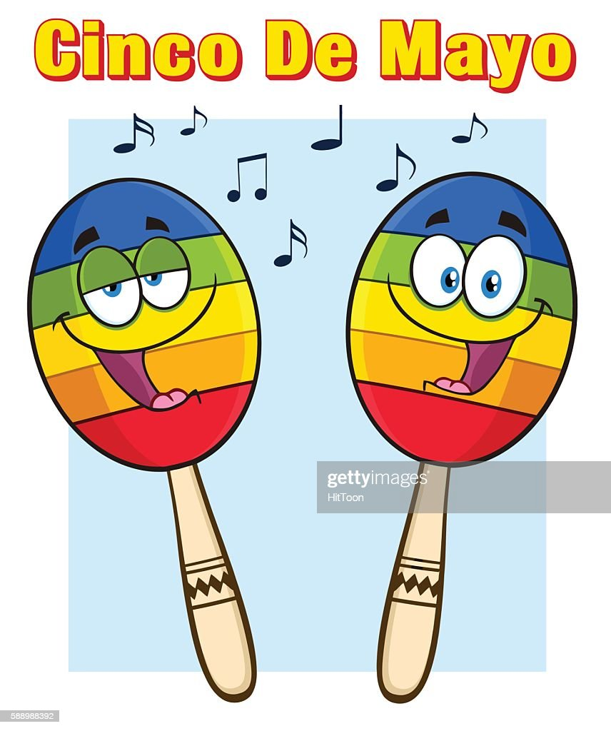 Two Mexican Maracas With Text