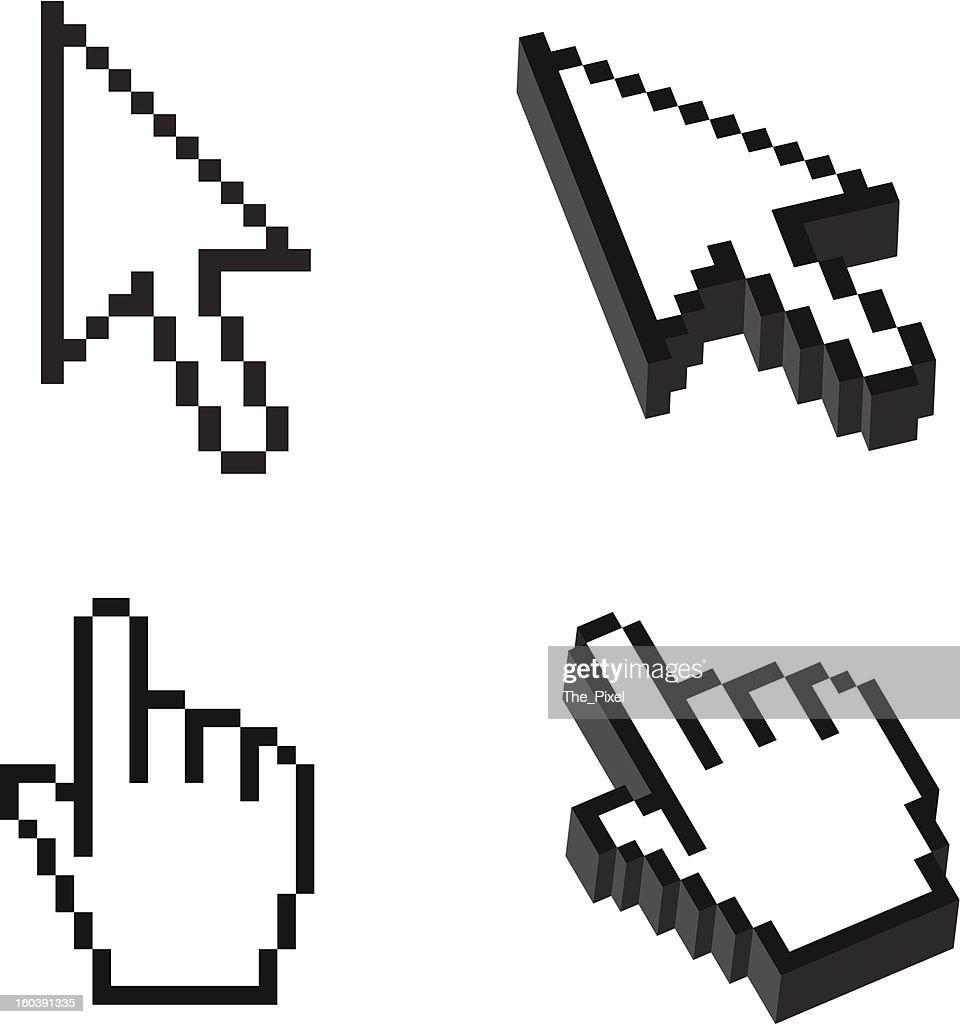 Two or Three dimensional Shape Cursor set