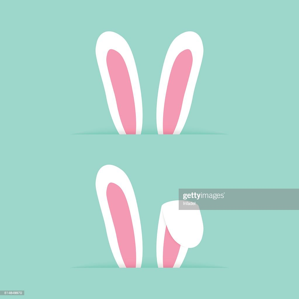 two pairs rabbit ears like happy easter