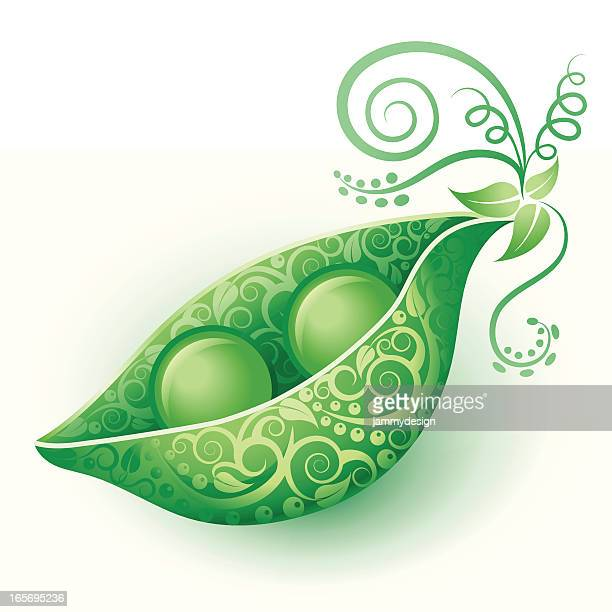 two peas in a pod - green pea stock illustrations