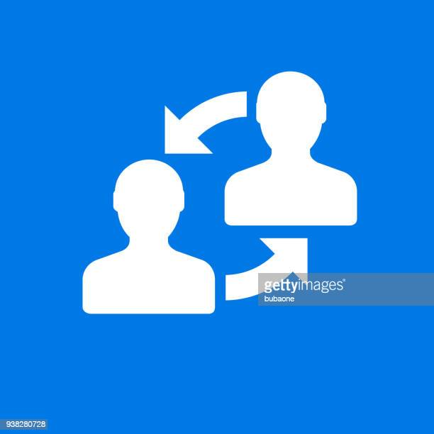 Two People Exchanging Information Icon
