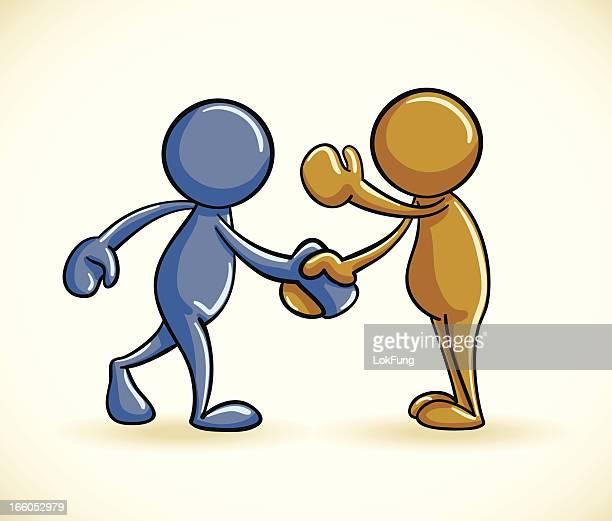 Zwei Personen beim Händeschütteln