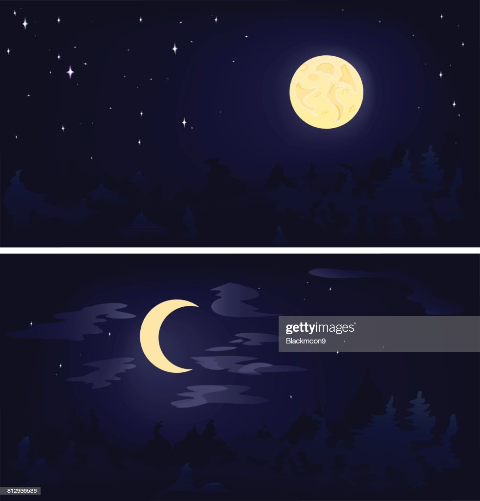 two phases of the moon