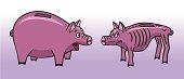 Two piggy bank.
