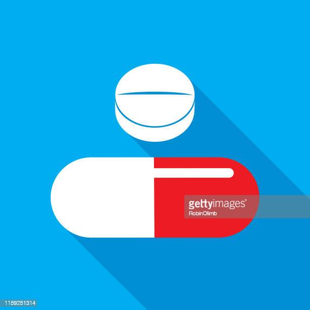 two pills shadow icon - pill stock illustrations