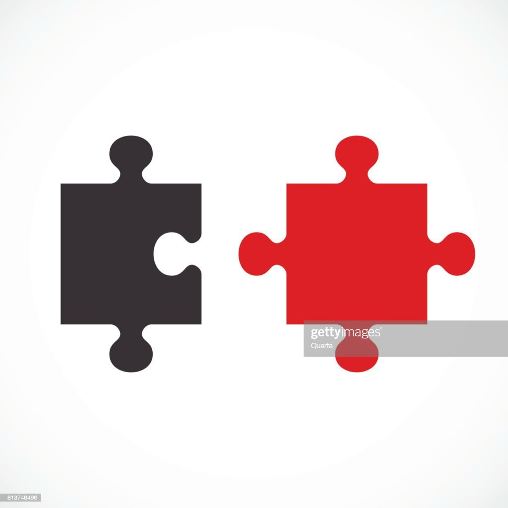 two puzzle concept