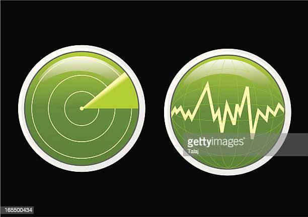 two radars - rfid stock illustrations, clip art, cartoons, & icons