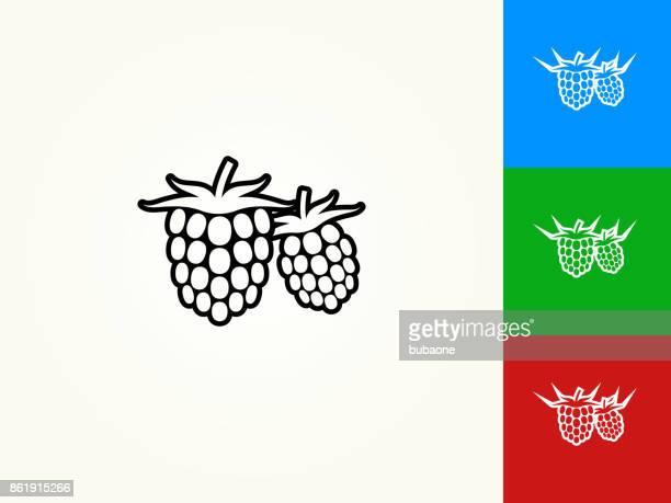 two raspberries black stroke linear icon - raspberry stock illustrations, clip art, cartoons, & icons