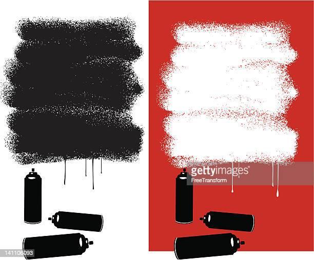 graffiti-nachricht - sprühfarbe stock-grafiken, -clipart, -cartoons und -symbole