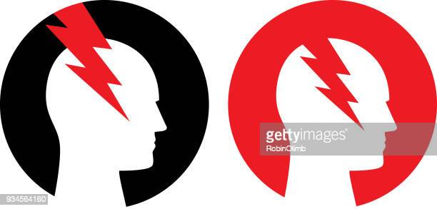 Two Round Headache Icons