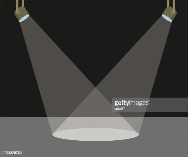 2 つのシーン ライト ベクトルのイラスト - スポットライト点のイラスト素材/クリップアート素材/マンガ素材/アイコン素材