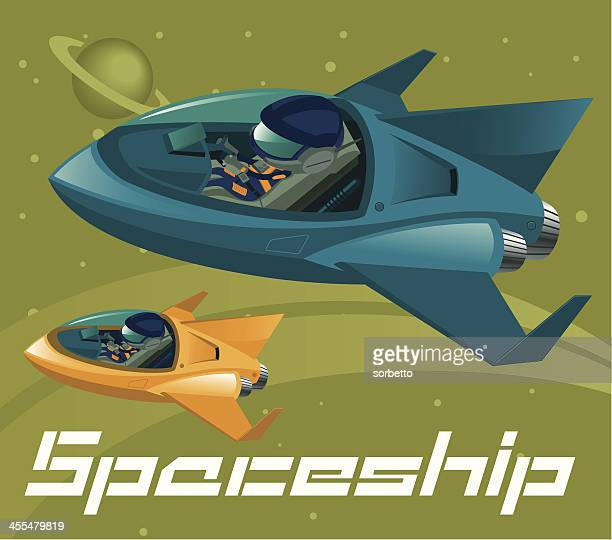 Two Spaceship flying in the galaxy