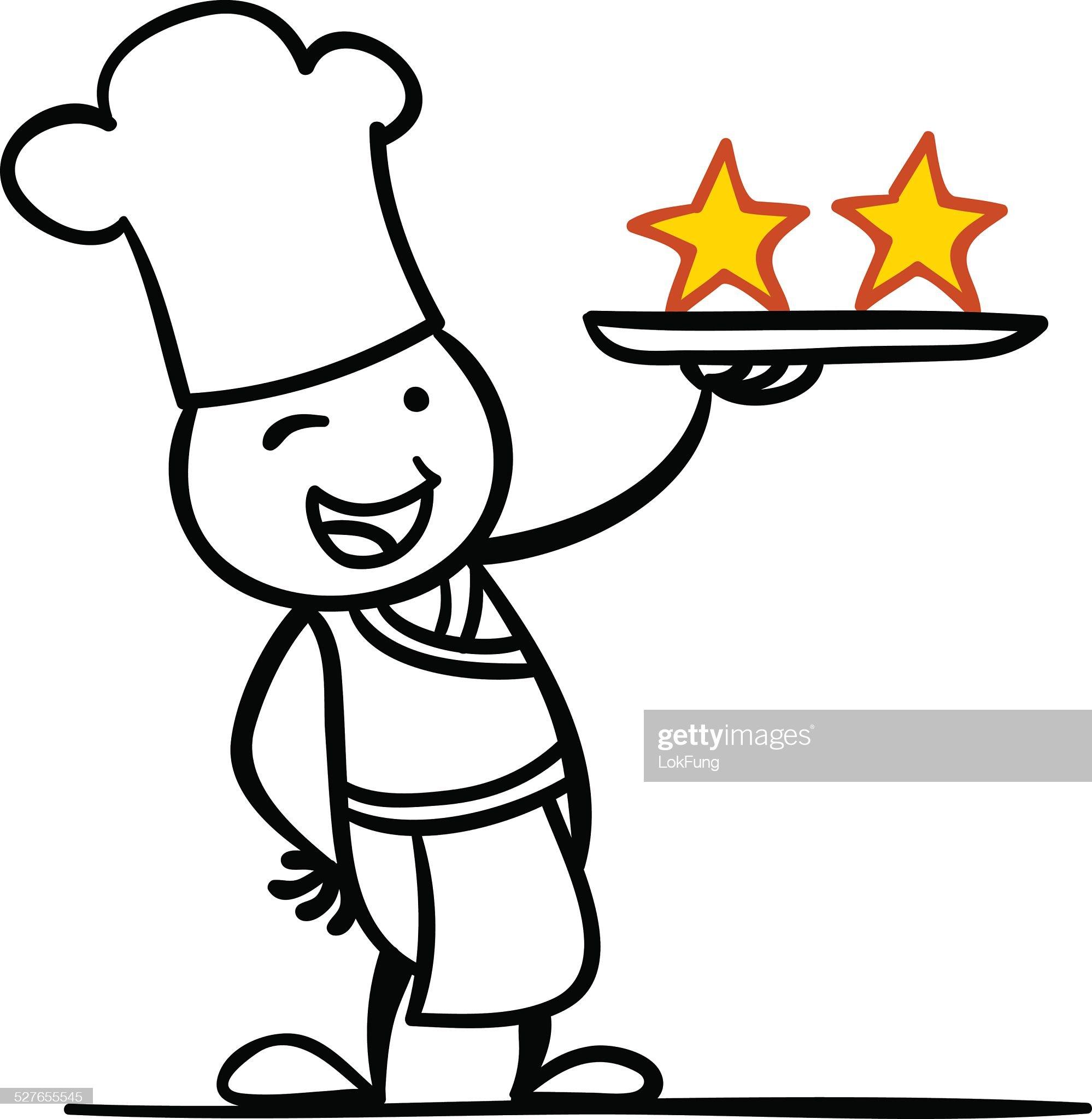 Due stelle chef : Illustrazione stock