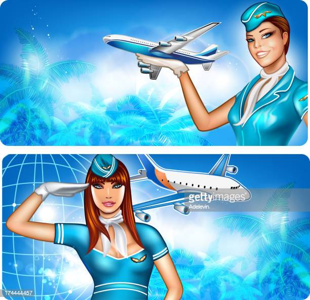 Two Stewardess pin up